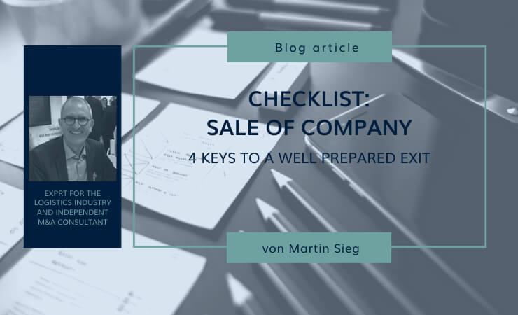 Checklist: Preparation for the sale of a company